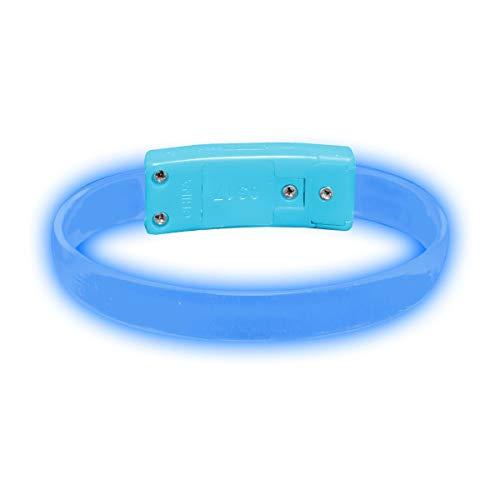 Glowmaker LED Light Up Wristband/Bracelets Pack of 4 (Blue) -