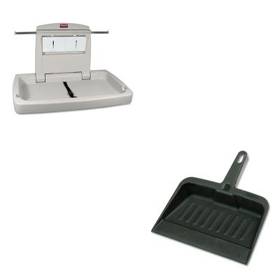 KITRCP2005CHARCP781888 - Value Kit - Rubbermaid 7818-88 Baby Changing Station Horizontal (RCP781888) and Rubbermaid-Chrome Heavy Duty Dust Pan (RCP2005CHA) by Rubbermaid
