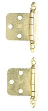 Amerock BP76783 Non Self-Closing, Face Mount Hinge with Variable Overlay - Polished Brass by Amerock