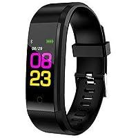Sonolife - Reloj Monitor de Actividad Física Inteligente Bluetooth Smartwatch Presión Ritmo Cardiaco Hora de Sueño Carorias Quemadas tipo Pulsera Fitband, con Podómetro, Notificaciones de Mensajería y Llamadas, Prueba de Agua y Polvo, Compatible con Android y iOS