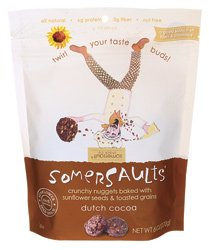 Bee Trail Sunflower (Somersaults - Crunchy Nuggets Baked w/ Sunflower Seeds & Toasted Grains 6oz. (2 Packs) (Dutch Cocoa))