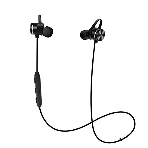 Sport Bluetooth Earphones, Stereo Wireless Magnetic IPX6 Sweatproof in-Ear Earbud Headphones for Running with Mic, CVC 6.0 Noise Cancelling, APTX, 8H