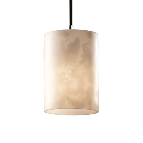 Justice Design Group CLD-8815-10-CROM Clouds Collection Mini 1-Light Pendant Light Fixture