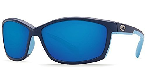 Costa Del Mar Manta 580P Manta, Matte Heron Blue Mirror, Blue Mirror