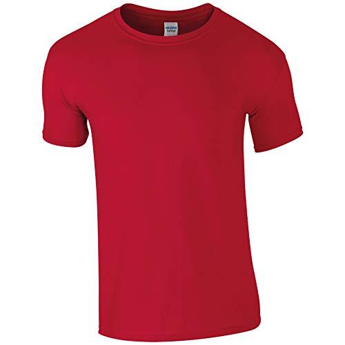 style Medium 100Cotone Soft GildanMaglietta Red Uomo cherry T13JFculK