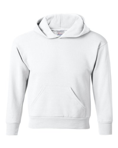 Hanes Youth 50/50 Pullover Hoody - WHITE - X-Small