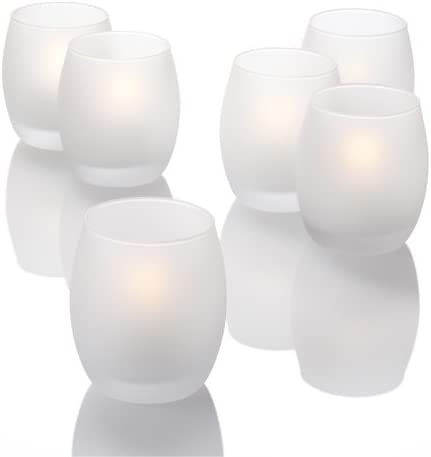 Richland Set of 36 Ivory Floating Candles 2″ and 36 Frosted Grande Hurricane Eastland Holder