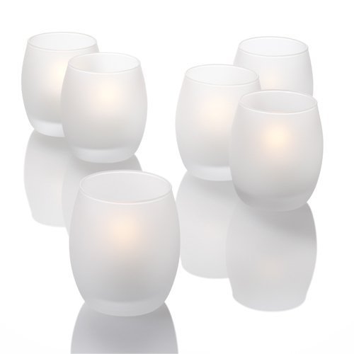 Eastland® Grande Hurricane Holders Frosted Set of 72 Quick Candles 1171_72