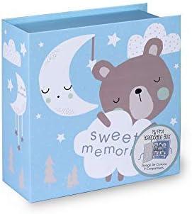 Tri-Coastal Design - Caja de Recuerdos - Una Caja para Recuerdos con 10 Cajones - Ideal como Regalo para Recién Nacido o para Usar como Joyero sobre el Escritorio o en la Mesilla de Noche - Azul