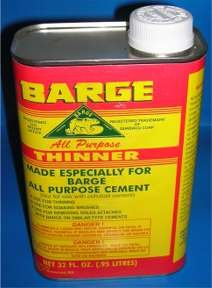 32 OZ Can Barge Cement Thinner OD 32oz Manufactured by Quabaug Item DC212