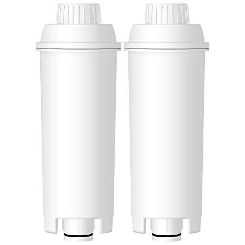 AQUA CREST TÜV SÜD Certified DLS C002 Coffee Water Filter, Compatible with DELONGHI De'Longhi DLS C002 (Pack of 2) ()