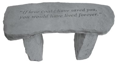 (Kay Berry- Inc. 37320 If Love Could Have Saved You - Angel Memorial Bench - 29 Inches x 12 Inches x 14.5 Inches)