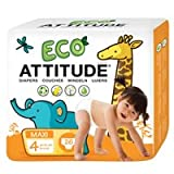 Diapers Size 4 (22-37 Lbs), 26 CT by Attitude (Pack of 2)