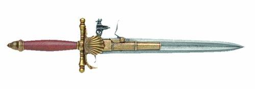 Denix 18th Century French Knife Pistol, Brass, Non-Firing Replica
