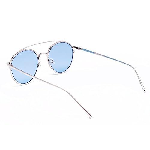 e5dc28cbcf Gafa de sol GRAPHICS PLANCK BLUE CHAMPAGNE doble puente de metal y lentes  claras azules,