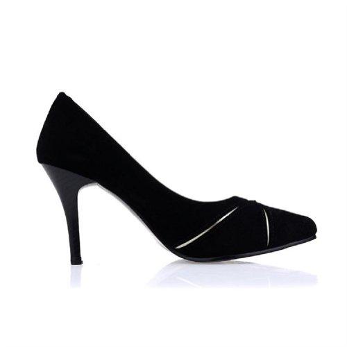 Voet Klassiek Damesschoenen Met Hoge Hak Stiletto Mary Jane Pump Zwart