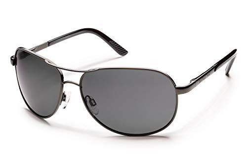 Suncloud Aviator Bi-Focal Sunglasses in Gun-Metal