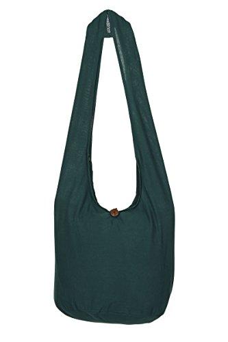 nbsp;– de de de Bolsa bolso de bolsa Boho nbsp;100 verde diseño viaje hombro Gypsy flores algodón Tailandés oscuro mano Sling Hippie zwEqgg