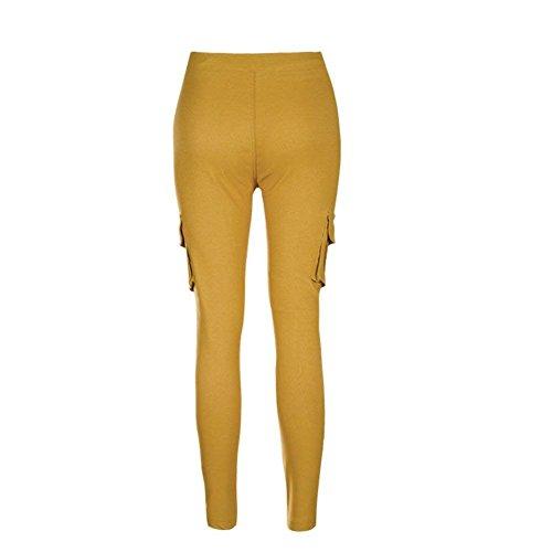 Couleur Style Taille Cargo Élastique Cordon Pochettes Femme Kahki Elastische Poche Maigre Pantalon De Fille Avec Crayon Fête Loisir Unie gEvPvYfqZW