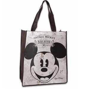 Vintage Disney Mickey Mouse Large Size Non-Woven Grocery Bag ()