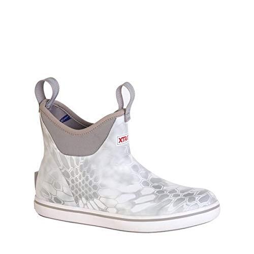 Xtratuf Women's Ankle Deck Slip-On Fishing Boot (9, Yeti White)