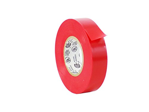Pvc Electrical Insulation Tape (WOD EL-766AW Professional Grade General Purpose Red Electrical Tape UL/CSA listed core. Utility Vinyl Rubber Adhesive Electrical Tape: 3/4in. X 60ft. - Use At No More Than 600V & 176F (Pack of 1))