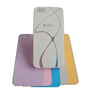 True & Resolute Feet Lines Style 5-In-One Multi-color PC Back Case Cover for Apple iPhone 5s iPhone 5 Smartphone(white)