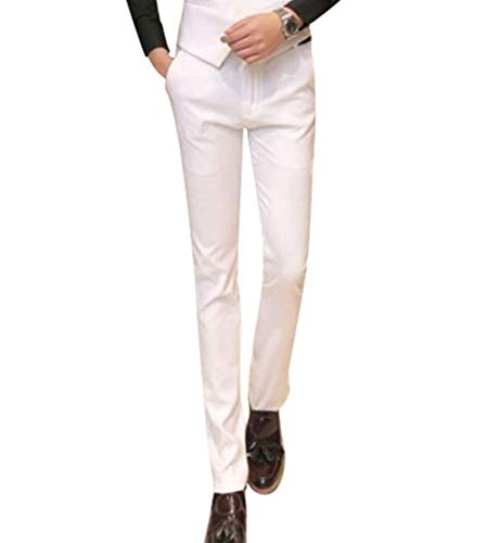 Pantalones Algodón Battercake Casuales Negocios Cómodo De Largos Los Hombres Otoño Fit Cintura Slim Primavera Alta Traje UwqOdAWq