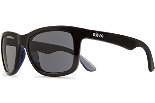 Revo Huddie Polarized Square Sunglasses, Black Graphite, 54 - Sunglasses Otis