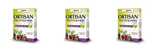 (3 PACK) - Ortis Ortisan Fruit & Fibre Cubes With Rhubarb | 12s | 3 PACK - SUPER SAVER - SAVE MONEY