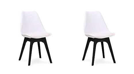 Folk Set Stühle Esszimmer 2 Auswahl Retro Design Tulpen