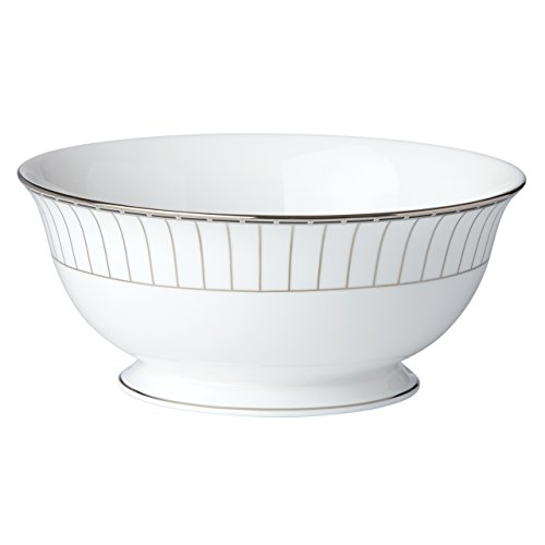 Lenox Platinum Onyx Serving Bowl, White