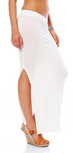 36 nbsp;fashion 10527 De 14 Jupe nbsp;couleurs Taille En Rock Weiß Stretch Maxi 34 Disponible Matière 4young 6dpqrp