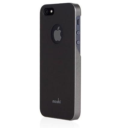 new product e5d3e 45d96 Moshi iGlaze Slim Case for iPhone SE/5S/5 - Graphite Black