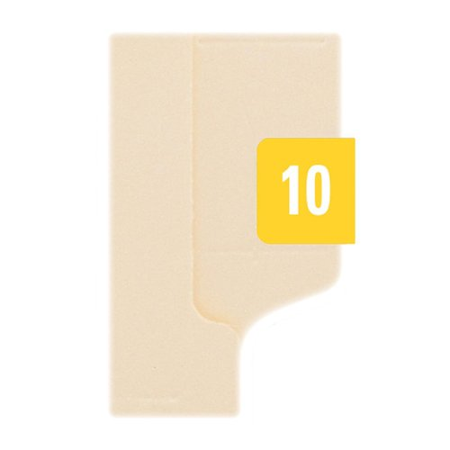 SMEAD Year 2010 End Tab Folder Labels, 1/2 x 1, Yellow/White, 250 Labels/Pack