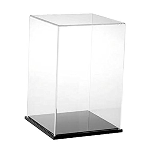 MagiDeal Clear Acrylic Display Box 15x15x30cm Dustproof Showcase for Action Figure Display Case Cube ()