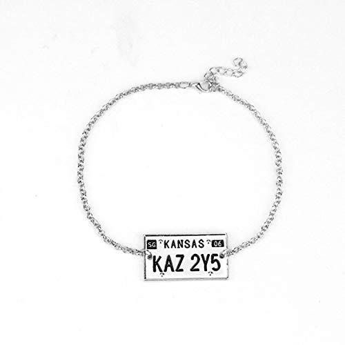 - FITIONS - Supernatural Sam Dean Winchester Metallicar Bracelet KANSAS KAZ 2Y5 Charm Pendant Bracelet Accessories-25