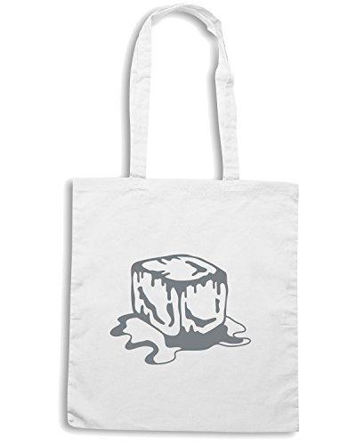 T-Shirtshock - Bolsa para la compra BEER0237 Ice Cube Blanco