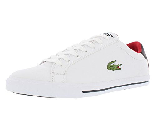 Lacoste Men's Grad Vulc TS Casual Shoe Fashion Sneaker, White/black, 8 M US