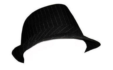 Pinstripe Lightweight Fedora Hat (More Colors Available), Black Black Pinstripe Fedora