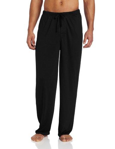 Intimo Men's Soft Knit Pant, Black, Large