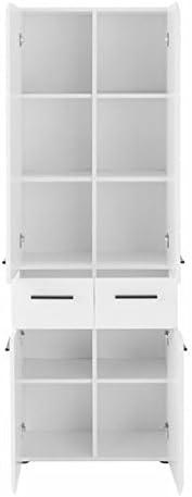 Maisonnerie 1116-103-01 Skin Armoire Grand Meuble Salle de Bain Blanc Ultrabrillant LxHxP 30 x 182 x 31 cm