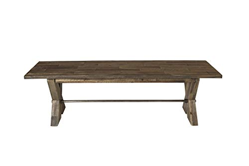 New Classic Furniture D7404-25 Tuscany Park Bench, Vintage Gray (Tuscany Room Dining Furniture)