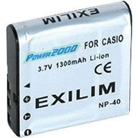 Power 2000 ACD-235 Replacement for Casio NP-40 Li-Ion Battery