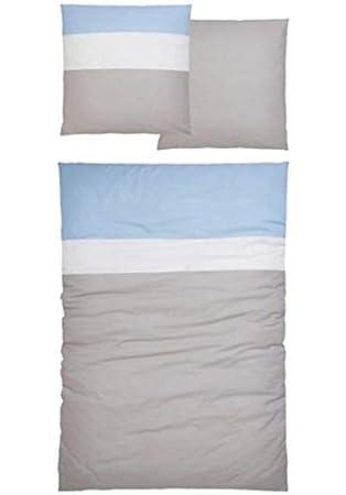 My Home Mako Satin Bettwäsche 155x220 80x80 504646 Cotton Made In