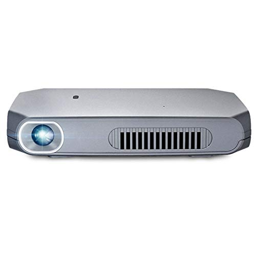Linbing123 Pico Projector, Mini Projector Portable 1080P HD DLP LED 50 ANSI Lumens with Dual Band WiFi 2.4G+5G, HDMI, USB, Shutter 3D Technology ()