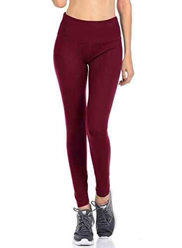 - VIV Collection Signature Leggings Yoga Waistband Soft w Hidden Pocket (XXL, Burgundy)