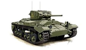 Armourfast 1/72 British Valentine MkII Tank Kit   Contains 2 Tanks