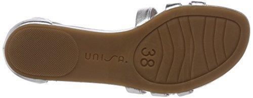 lmt Women's Black Alardo Unisa Toe Sandals silver Open Silver HEBxwxT