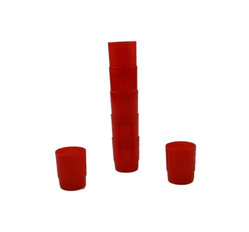 Mehrweg-Medikamentenbecher - 25 ml - rot - 60 Stück